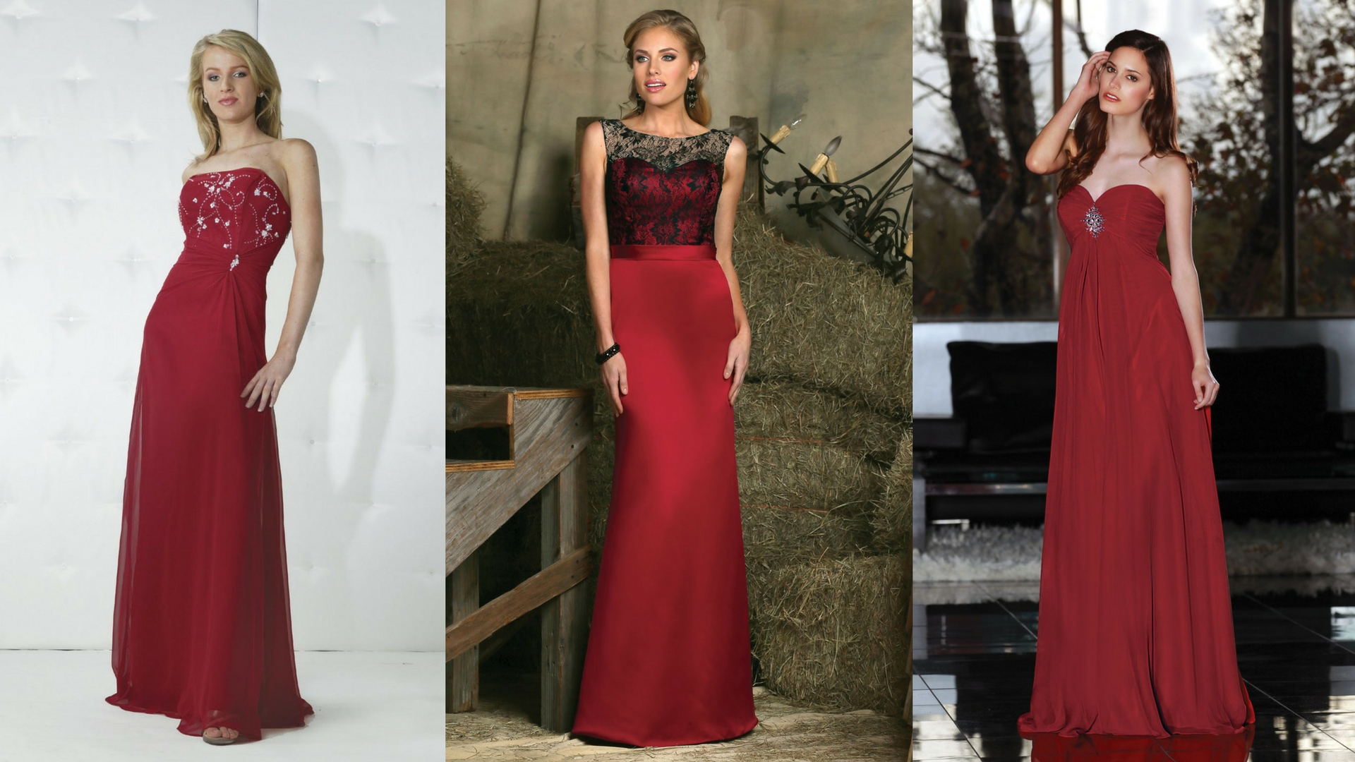 Roses are red 7 crimson dress ideas for your bridesmaids for Da vinci red wedding dress